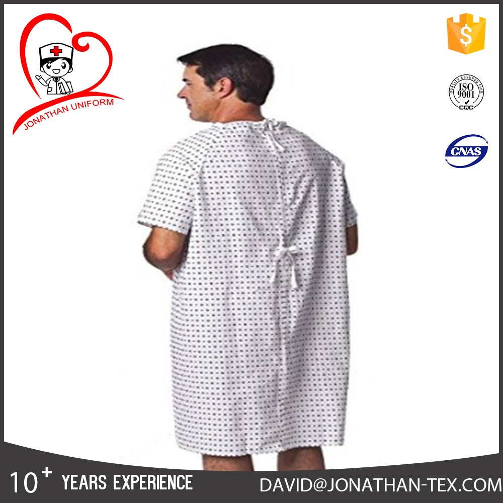 High quality 100%cotton Patient Gown Hospital Gown