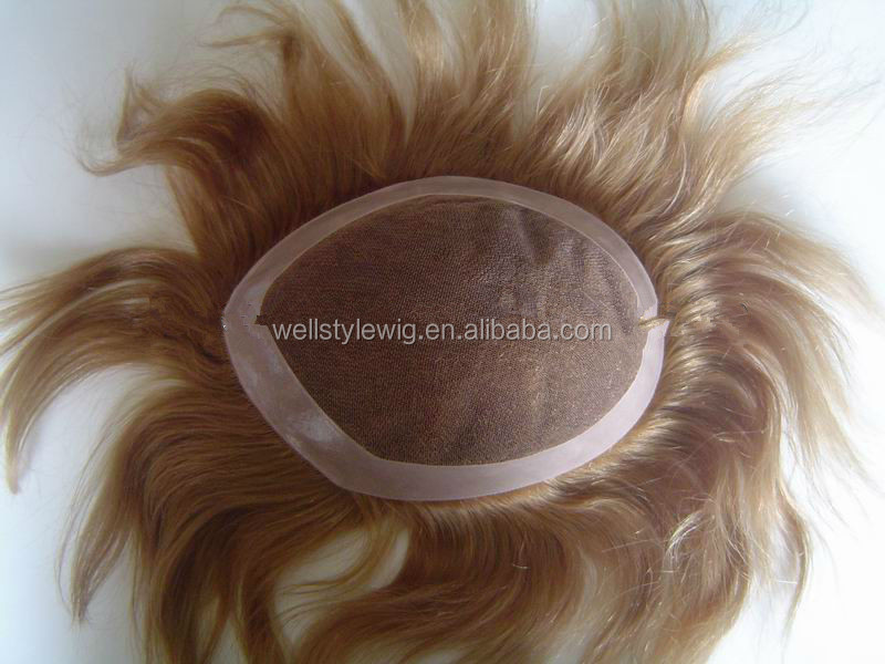 top quality full cuticle natural hairline remy human hair toupee for men