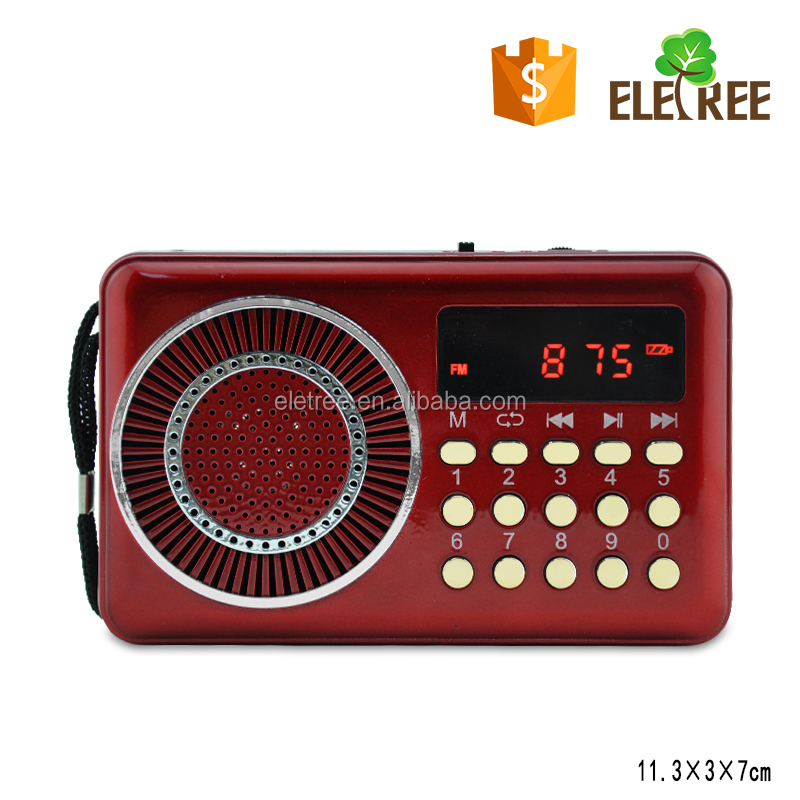 CHINA FACTORY JOC mini portable fm radio WITH TF /USB DISK PLAY WITH COMPUTER PLAYER OUTPUT EL-022U