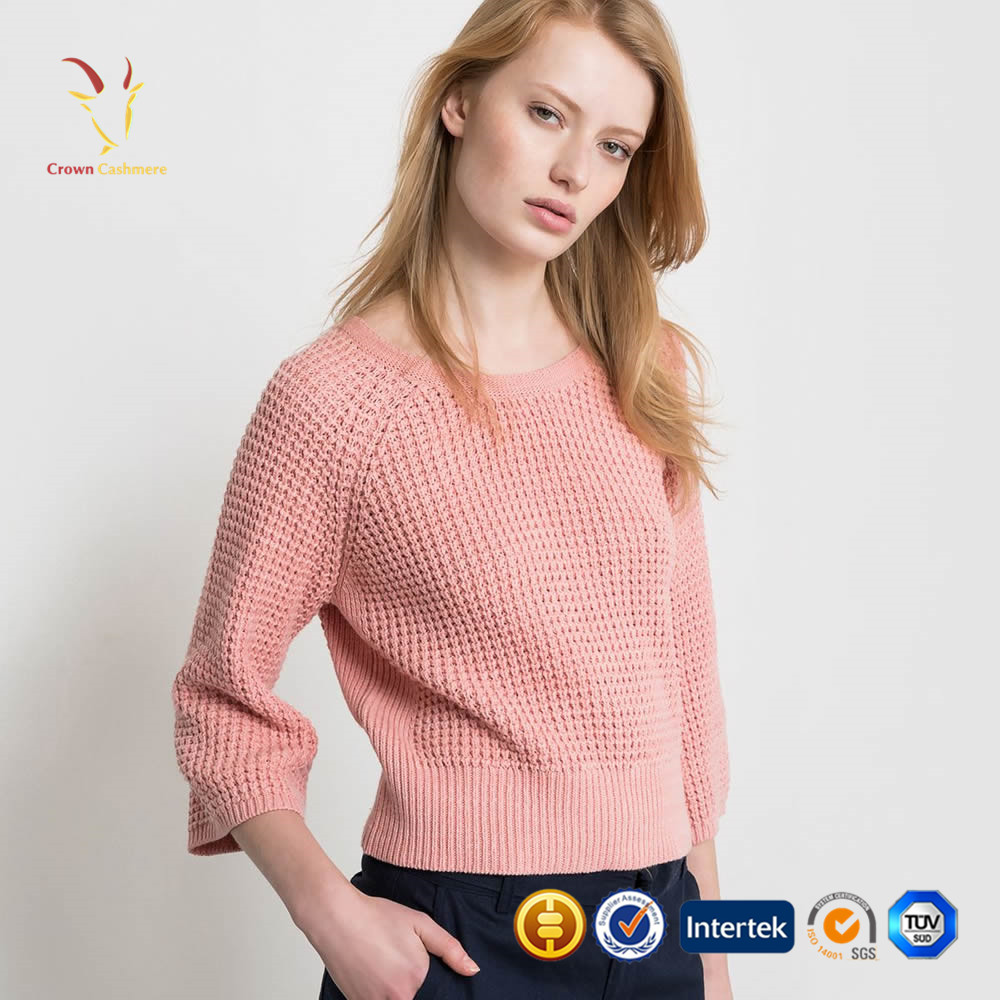 2016 Fashion Knitted Sweaters Women Back V neck Outwear Pullovers