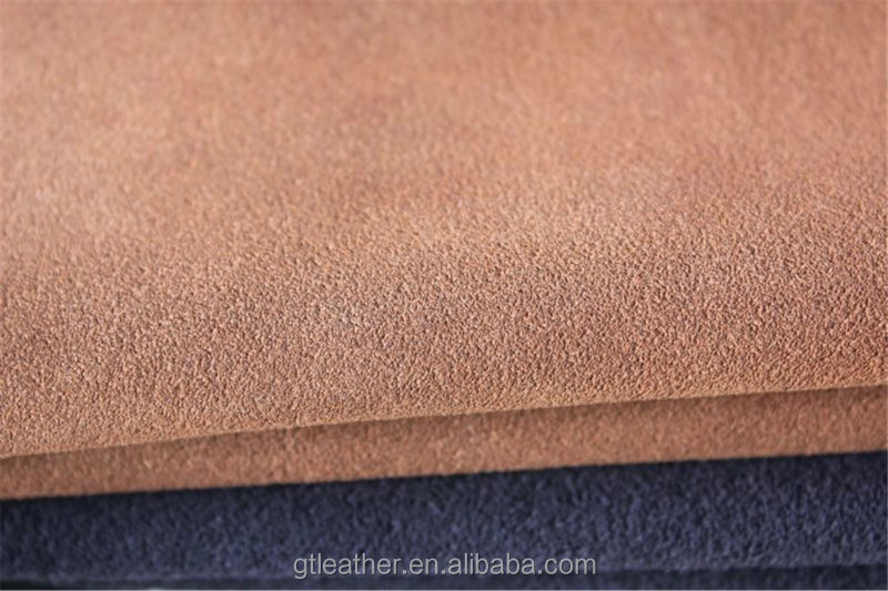 Cow suede leather fabric for making shoes