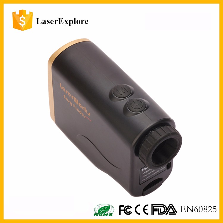 Waterproof 1500m bow mode hunting rangefinder/pinseeker golf slope compensation golf laser rangefinder