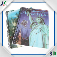 wholesale lenticular cover 3d notebook/school student 3d lenticular notebook