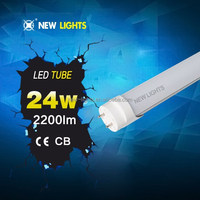 Super brightness low energy usage 30000hrs life span ic driver t8 24w led red tube xxx