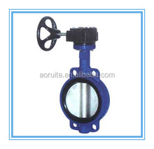 D371X-10/16 DN40-1200mm Gear operated Wafer end type Butterfly Valve