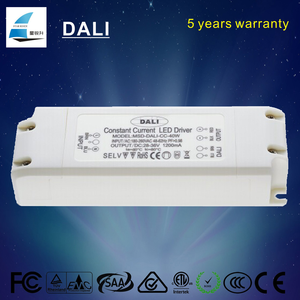 hot selling 1500mA dimmable constant current led driver 40W Dali power supply