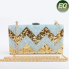 Best sale rectangle blue arcylic bag popular cosmetic case clutch bag manufacturer