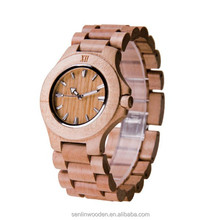 Watches men 100% Eco-friendly wooden watch mixed color sandalwood pure wooden wristwatch