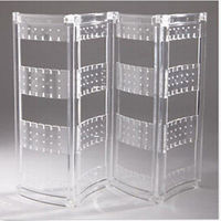 144 pairs of earrings unassembled acrylic jewelry display stand