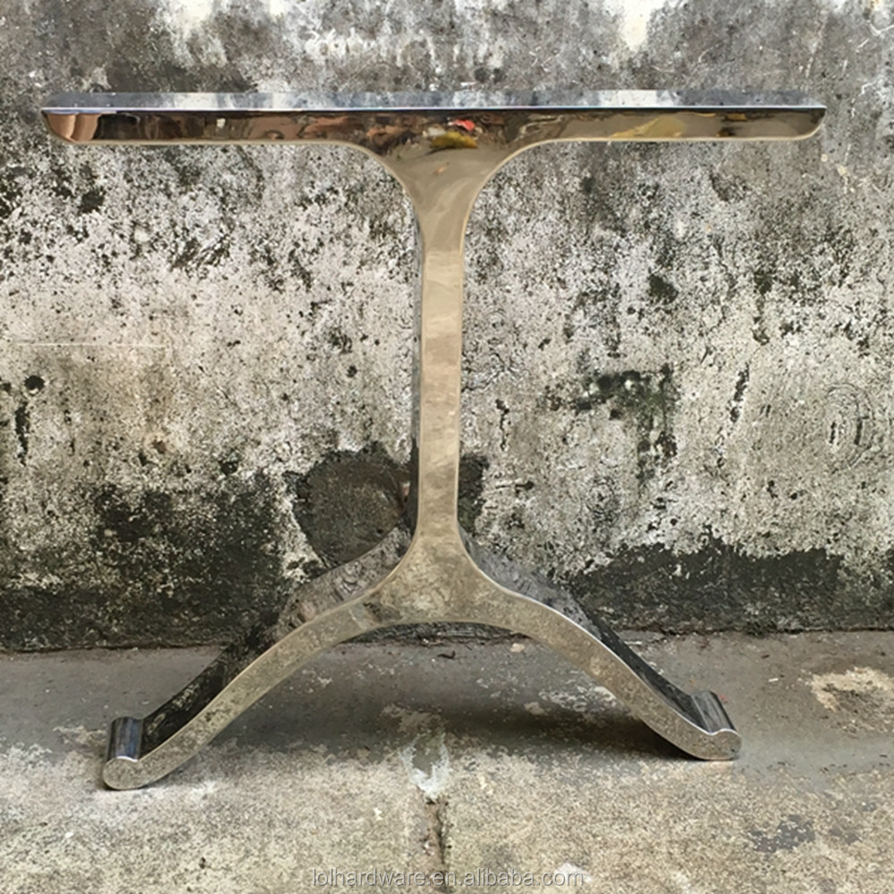 X style metal dining table legs with wood table for crank table base