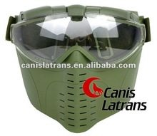 Tactical/ plastic Full Face Airsoft Mask With Goggles CL9-0010