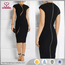 China supplier new design hollow prominent one's body wrap career dress