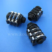 6 pin 6.35 mm stereo female jack socket