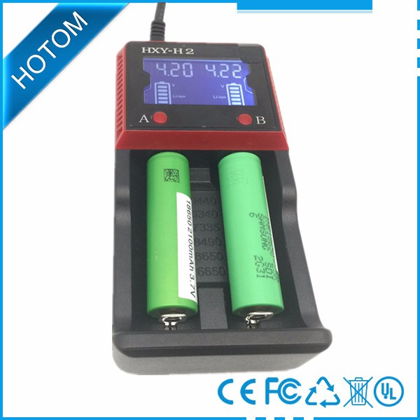 Hot New Products 18650 OLED Screen Rechargeable Battery Charger 4.2V Compatible Li-ion and Ni-MH AA AAA C Wholesale From China