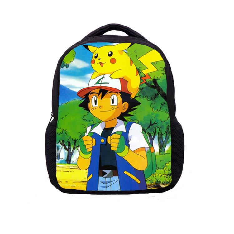 custom new style top quality child pokemon school bag