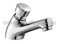 KS-02 popular bathroom fitting chrome polished deck installation solid copper basin sink push button tap