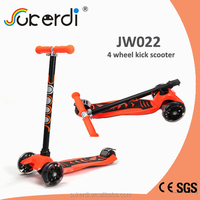 CE SGS certificated aluminum 4 wheel scooter kids trike scooter