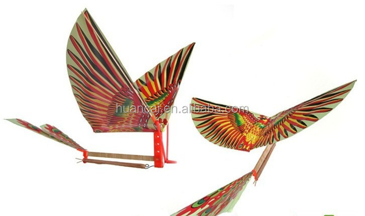 Chridren's Day rubber band powered flying bird Toy