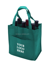 Eco-friendly non woven shopping carrier bags for wine bottle