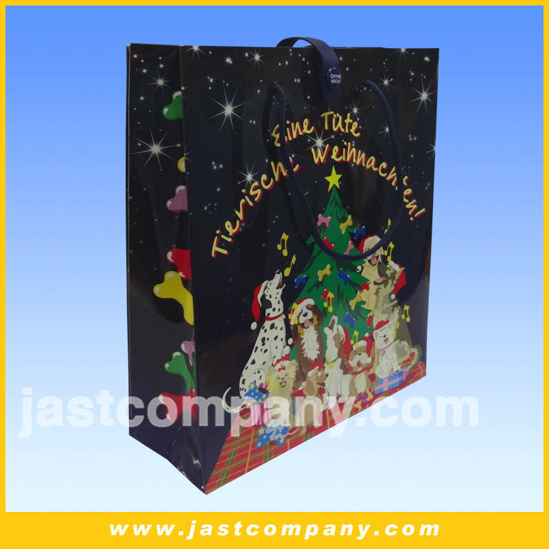 Christmas musical paper gift bag, surprise gift bag