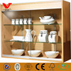 Tempered glass wholesale wall mounted display cases for kitchen cooker products