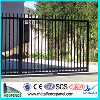AS 1926.1-2012 durable cranked spear top tubular steel fence