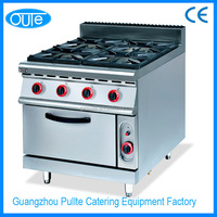 Commercial Hot Selling 4 Burner Gas Cooking Range With Oven