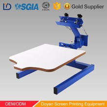 DY 1 color 1 station factory directly dell rotary t- shirt screen printing machine