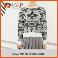Oline shopping brand new style customized long sleeve winter pullover sweater