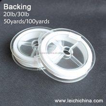 white fly fishing backing line