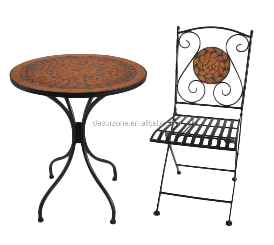 gartenm bel mosaik stein tisch und stuhl bistro set set im. Black Bedroom Furniture Sets. Home Design Ideas