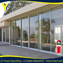 Au standard Aluminumcommercial glass entry door/used commercial glass sliding doors with AS2047/NZS2208