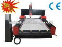 Marble stone cnc engraving machine with water tank dust cover