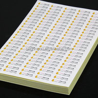 a4 size custom label sticker sheet glossy photo paper