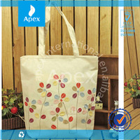 yellow big cotton shopping bag