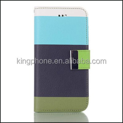 Couple Color stripe Wallet Cover for iPhone 6