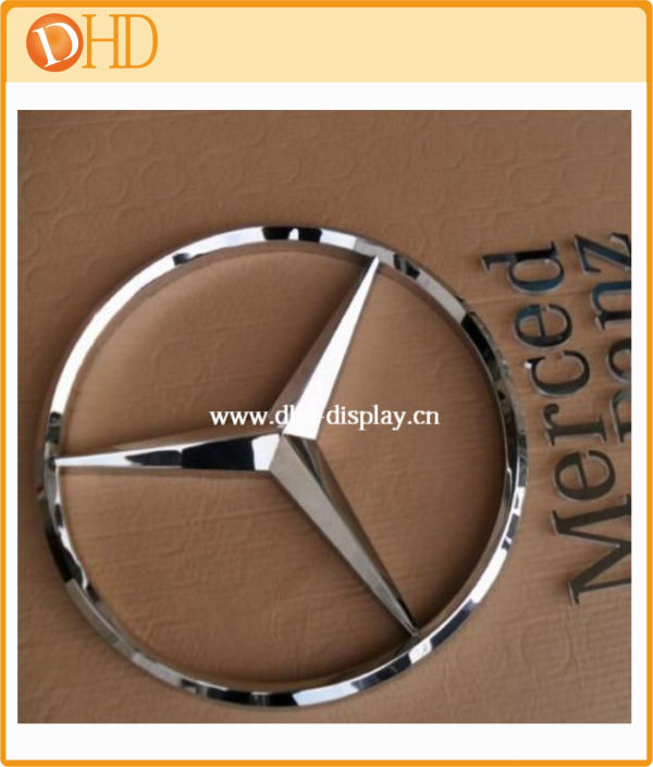 Car brand name stainless steel 3D logo signs