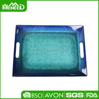 Novelty rectangular large melamine dinner serving tray