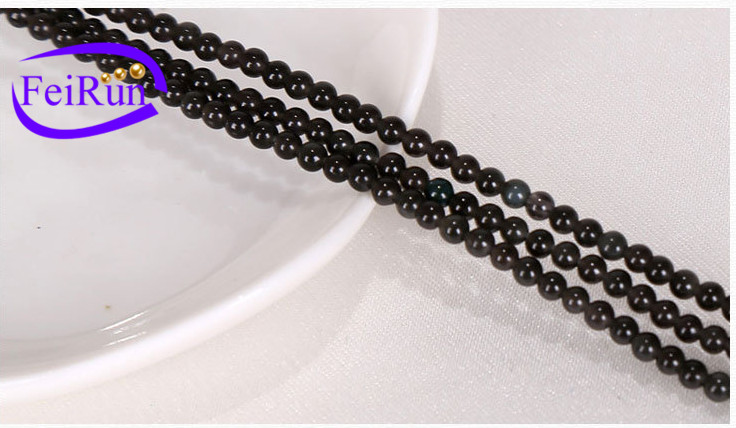 2-3mm hot selling diy accessories natural samll black obsidian