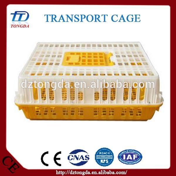 New design plastic poultry turnover box with great price sliding rear doors transfer cages