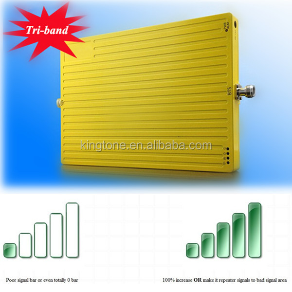 Indoor Tri Band 900 1800 2100 MHz Mobile Signal Booster