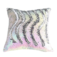 SZPLH Customized Light Color Double Face Sequin Throw Pillow Decorative Cushion