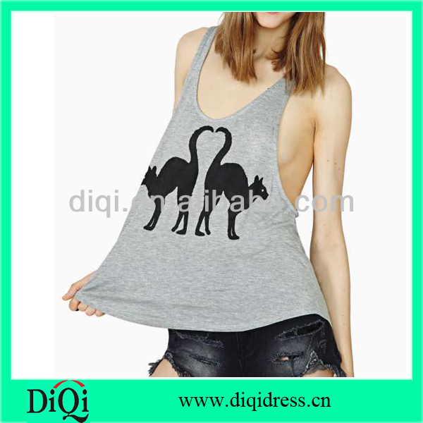 women sexy tank tops with animals pattern