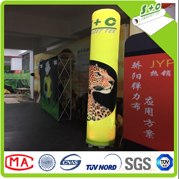 round light box balloon stretch fabric for dye sublimation direct print with German DIN B1