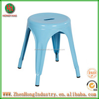 bw blue wrought iron stool, cast wrought iron stool ,round bar stools wrought iron stool