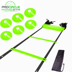 Home Gym Football Quick Flat Rung Speed Agility Ladder With Carry Bag Training Equipment