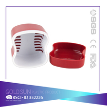 Plastic Denture Storage Plastic Box with Net denture holder box