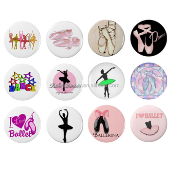 Wholesale New Interchangeable DIY 18mm Cabochon Glass Dance Ballet Ballerina Button for Snap Jewelry Bracelet Necklace Earrings
