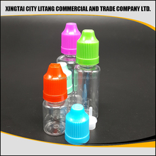 China manufacturer of full form pet e liquid dropper bottles with childproof/tamperproof/screw cap factory price