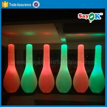 High quality giant inflatable human led bowling pin bowling game for Sale